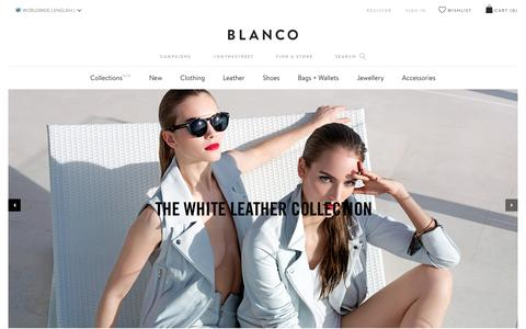 Screenshot of Home Page blanco.com - Blanco   Women's Clothing and Fashion Online - captured March 1, 2016