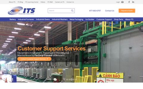 Screenshot of Home Page internationalthermalsystems.com - International Thermal Systems : Industrial Ovens, Furnaces & Aqueous Washers - captured Dec. 19, 2018