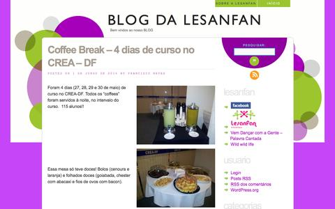 Screenshot of Blog lesanfan.com.br - BLOG da LESANFAN   Bem vindos ao nosso BLOG - captured Oct. 8, 2016