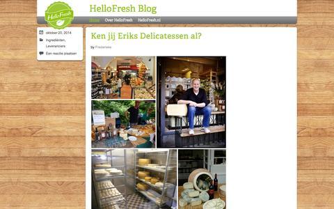 Screenshot of Blog hellofresh.nl - HelloFresh Blog | Elke week gezonde recepten met verse ingrediënten thuisbezorgd - captured Oct. 27, 2014