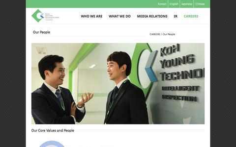 Screenshot of Team Page kohyoung.com - –  Our People - captured Nov. 27, 2016