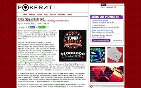 Screenshot of Press Page pokerati.com - Pokerati Texas Hold'em and WSOP Poker Blog - captured Sept. 24, 2014