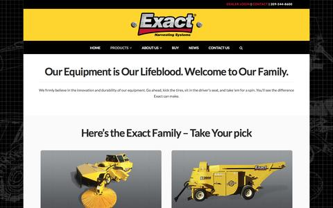 Screenshot of Products Page exactcorp.com - Products | ExactCorp - captured Nov. 11, 2016
