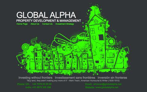 Screenshot of Home Page globalalpha.net - Home Page - captured Sept. 30, 2014