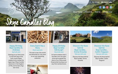 Screenshot of Blog skyecandles.co.uk - Blog - Isle of Skye Candle Company - captured Nov. 26, 2016