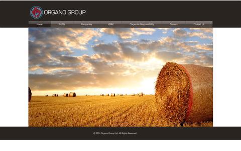 Screenshot of Home Page organogroup.ca - Organo Group - captured Sept. 30, 2014