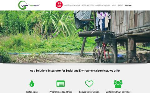 Screenshot of Home Page egoodwater.com - Home - The GoodWater Company | Solutions Made Simple | The GoodWater Company | Solutions Made Simple - captured Jan. 26, 2015