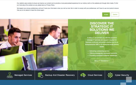 Screenshot of Home Page mirus-it.co.uk - Mirus IT Solutions - IT Support London & Milton Keynes - captured Sept. 22, 2018
