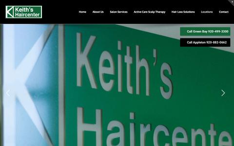 Screenshot of Locations Page keithshaircenter.com - Locations - Keith's Haircenter - captured June 9, 2017