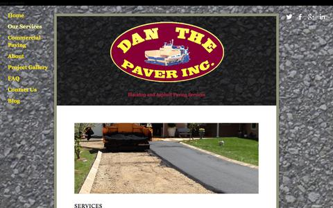 Screenshot of Services Page danthepaver.com - Our Services — Dan the Paver - captured Oct. 27, 2014
