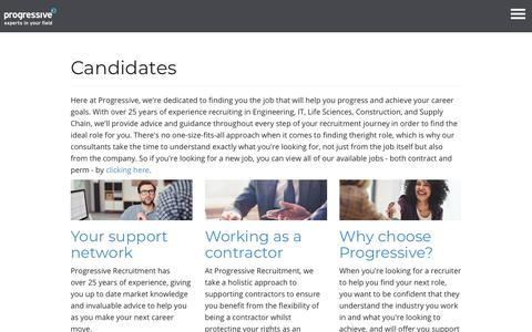 Search for the latest contract and permanent jobs  - Progressive Recruitment
