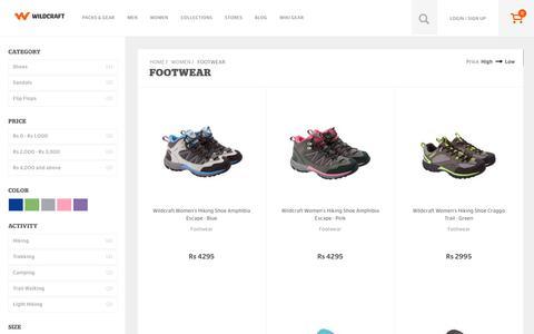 Screenshot of wildcraft.in - Wildcraft Women's Footwear - Buy Women's Footwear Online in India - captured March 19, 2016