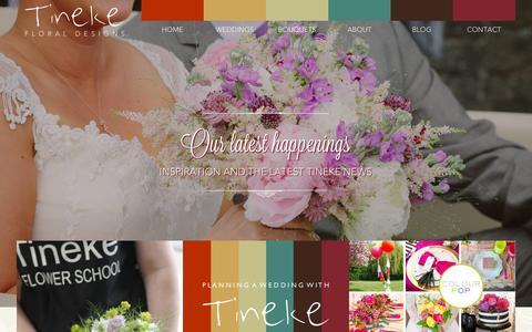 Screenshot of Blog tinekefloraldesigns.co.uk - Blog Archives - Tineke Floral - captured Oct. 1, 2014