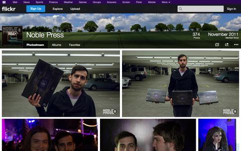 Screenshot of Flickr Page flickr.com - Flickr: Noble Press' Photostream - captured Oct. 26, 2014