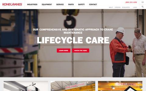 Screenshot of Home Page konecranesusa.com - KonecranesUSA | Home | Konecranes USA - captured March 1, 2016