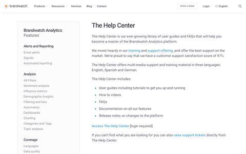 The Help Center | Brandwatch