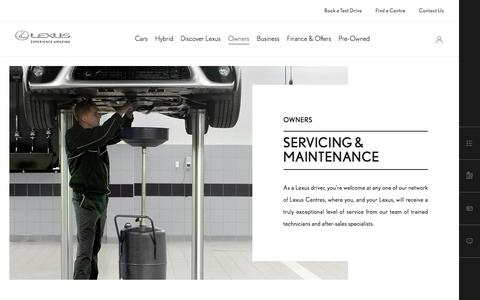 Lexus Car Servicing and Maintenance | Lexus UK