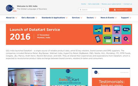 Screenshot of Testimonials Page gs1india.org - Launch of DataKart Service - captured July 11, 2018