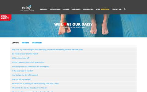 Screenshot of FAQ Page daisypoolcovers.com.au - FAQs - Daisy Pool Covers - captured July 6, 2017