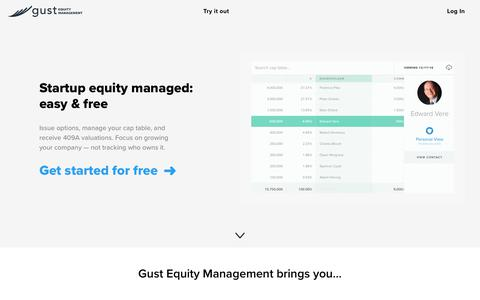 Gust Equity Management - Cap table and options management