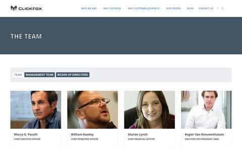 Screenshot of Team Page clickfox.com - Meet the ClickFox Team of Data Professionals - captured July 3, 2016
