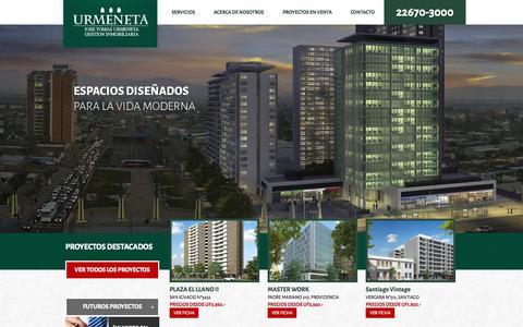 Screenshot of Home Page urmenetagi.cl - Urmeneta | Gestión Inmobiliaria - captured Sept. 16, 2015