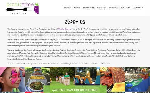 Screenshot of About Page picnictimeproductions.com - About Us - Picnic Time Productions - captured July 18, 2018