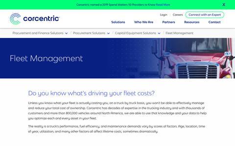 Screenshot of Team Page corcentric.com - Fleet Management | Corcentric - captured Nov. 27, 2019