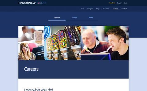 Screenshot of Jobs Page brandview.com - Careers - captured Sept. 30, 2014