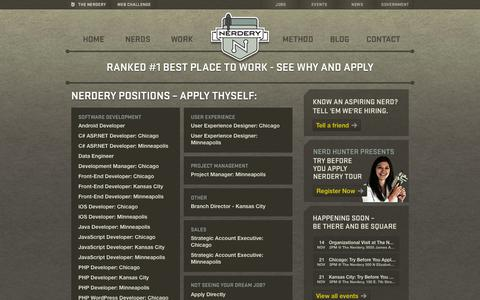 Screenshot of Jobs Page nerdery.com - Jobs at The Nerdery - captured Oct. 30, 2014