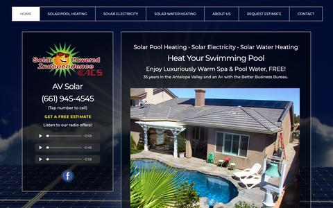 Screenshot of Home Page avsolar.com - AV Solar - Solar Powered Independence by ACS - captured Oct. 3, 2018