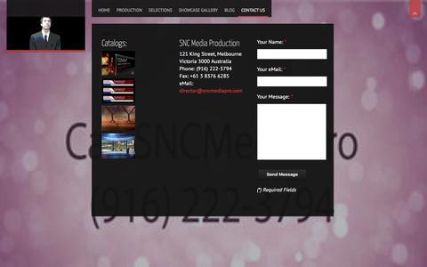 Screenshot of Contact Page sncmediapro.com - Contact US - SNC Media Production - captured April 9, 2016