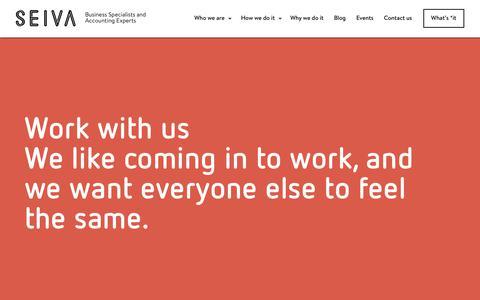 Screenshot of Jobs Page seiva.com.au - Work with us — Seiva - captured Sept. 26, 2018