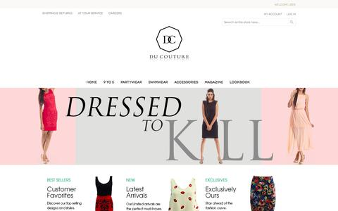 Screenshot of About Page ducouture.com - Home - captured Sept. 30, 2014