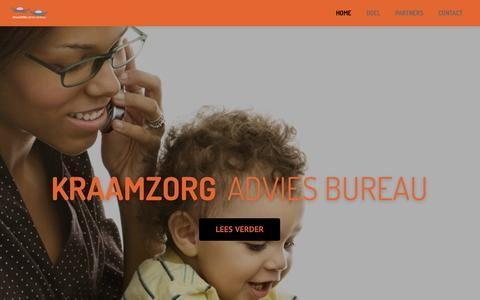 Screenshot of Home Page kraamzorgadviesbureau.nl - Kraamzorg Advies bureau - captured Sept. 16, 2015