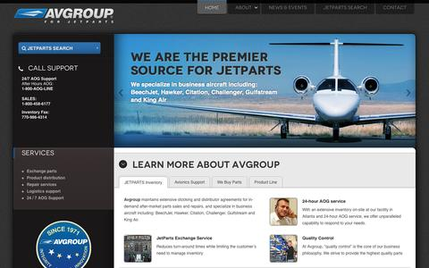 Screenshot of Home Page jetparts.com - Jetparts - Avgroup - Premier source for Jetparts - captured Oct. 4, 2014