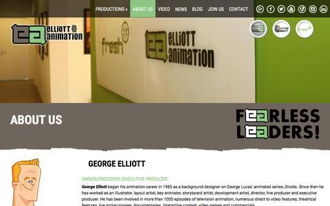 Screenshot of About Page elliottanimation.com - | Elliott Animation, Toronto - captured Dec. 9, 2015