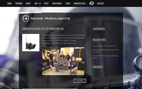 Screenshot of Press Page nytoa.org - NYTOA | News - captured Oct. 3, 2014