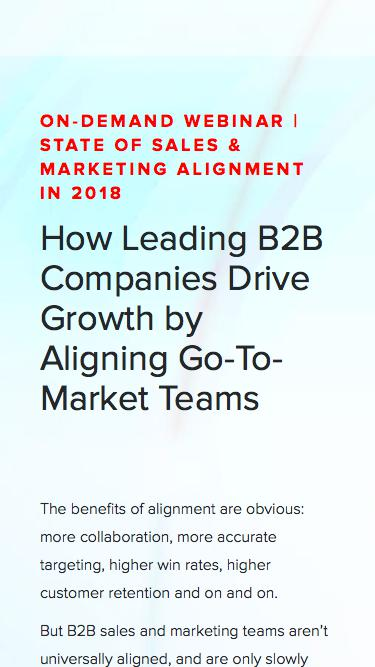 Webinar | The State of Sales & Marketing Alignment in 2018