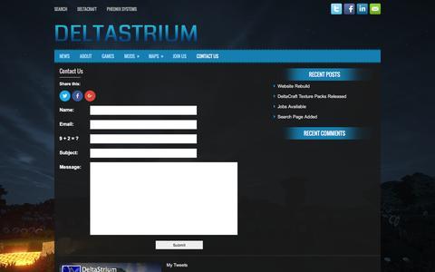 Screenshot of Contact Page deltastrium.com - Contact Us | DeltaStrium - captured Jan. 7, 2016