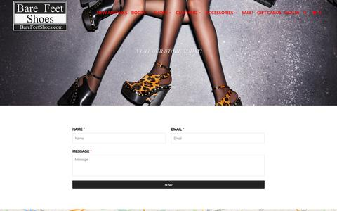 Screenshot of Contact Page barefeetshoes.com - Contact Us - Bare Feet Shoes - captured Dec. 30, 2015