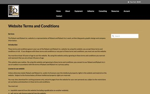 Screenshot of Terms Page rybackandryback.com - Website Terms and Conditions - Ryback & Ryback Inc. - captured Oct. 19, 2018