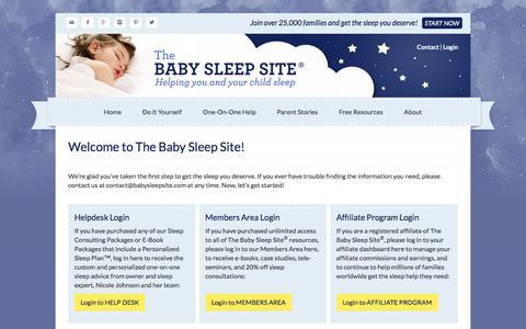 Screenshot of Login Page babysleepsite.com - Welcome to The Baby Sleep Site!   The Baby Sleep Site - Baby / Toddler Sleep Consultants - captured Jan. 15, 2016