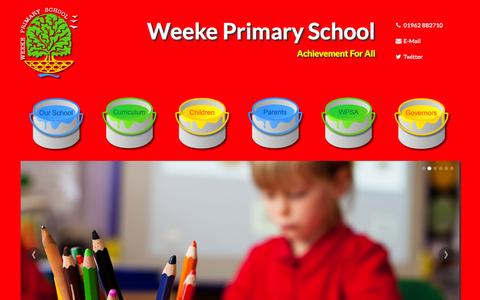 Screenshot of Home Page weekeprimary.com - Welcome to Weeke Primary School! Home Page - captured Oct. 7, 2014