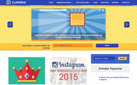 Screenshot of Blog cuadrio.com - Blog - Cuadrio - captured Feb. 1, 2016