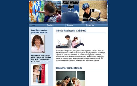 Screenshot of Home Page kidsmediadiet.org - Crayon | Imagine your next design - captured Sept. 30, 2014