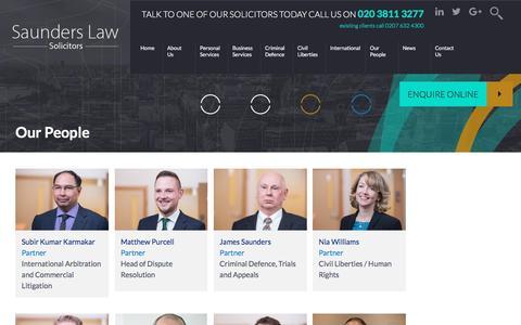Screenshot of Team Page saunders.co.uk - Our People - Saunders Law - captured Nov. 19, 2016