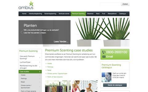 Screenshot of Case Studies Page ambius.nl - Microfresh geuren studies cases- Ambius - captured Oct. 4, 2014