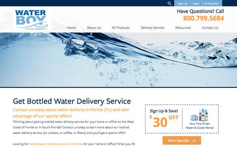 Screenshot of Signup Page waterboyinc.com - About Water Boy Inc - Florida's Favorite Bottled Water Delivery Company! - captured Nov. 28, 2016