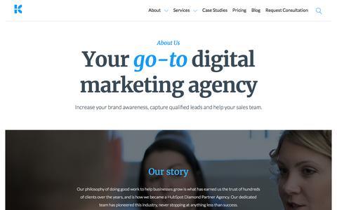 Screenshot of About Page Team Page kunocreative.com - Digital Marketing Agency   Kuno Creative - captured Feb. 2, 2018